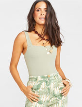 Load image into Gallery viewer, Show Me Your Mumu Rory Bodysuit Sage Stretch | Womens Sage Sleeveless Bodysuit