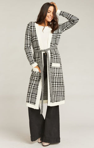 Seth Belted Sweater Rogers Plaid Knit
