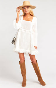 Sicily Mini Dress in White by Show Me Your Mumu | Bohemian Dresses