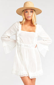 Sicily Mini Dress in White by Show Me Your Mumu | Day Dresses