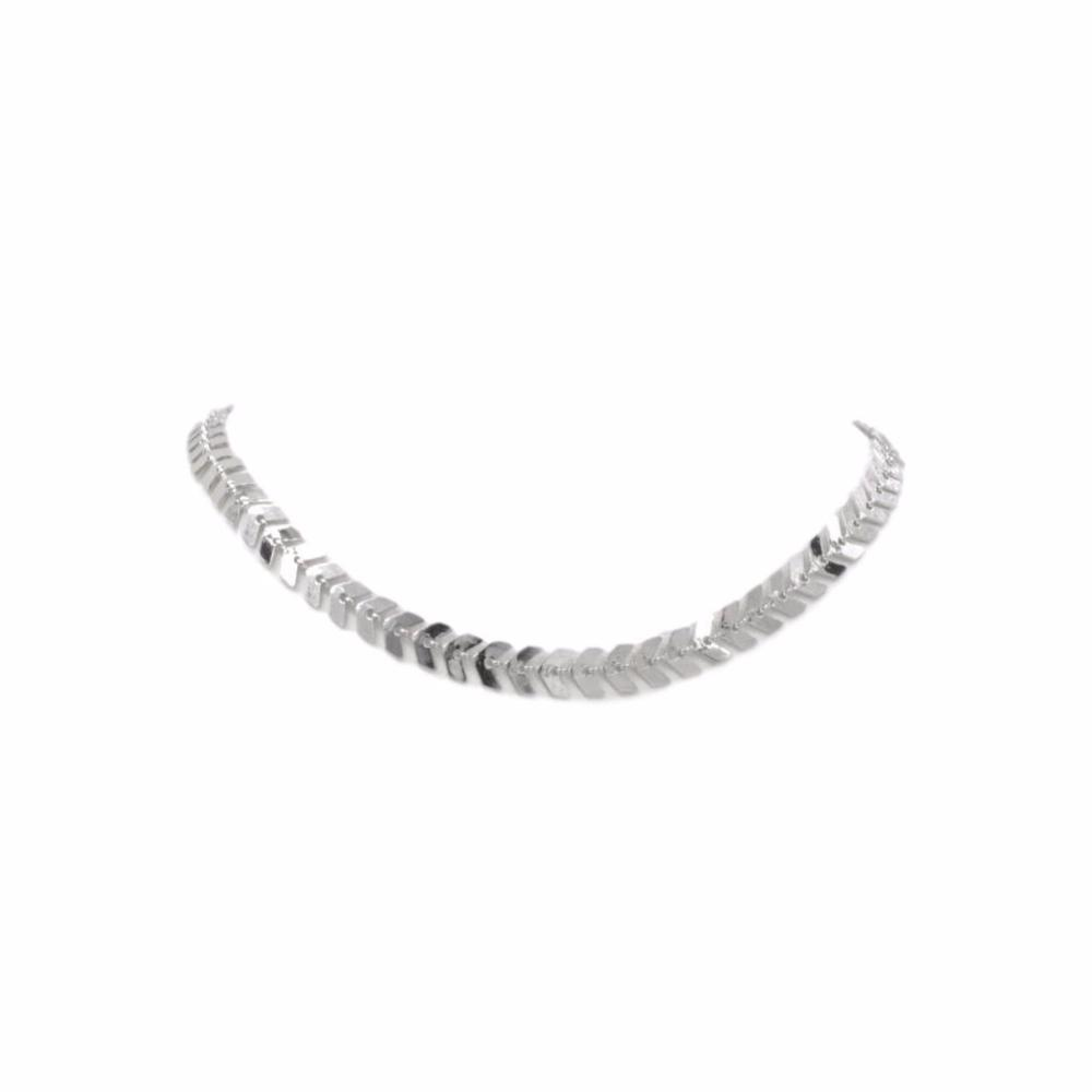 Goddess Collection - Silver Lance Choker Necklace by Kinsley Armelle