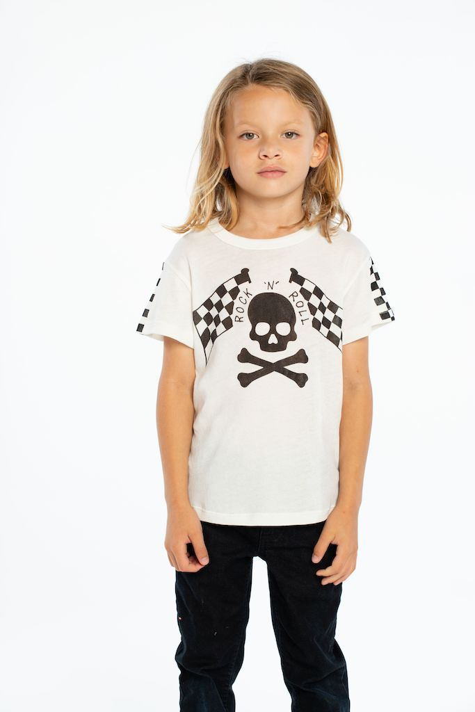 Load image into Gallery viewer, Skull & Bones Racer by Chaser Kids | Bohemian Mama