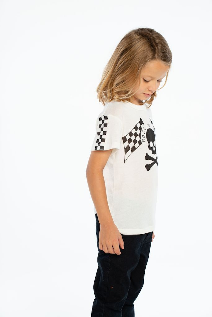 Load image into Gallery viewer, Skull & Bones Racer by Chaser Kids | Tweens Clothing