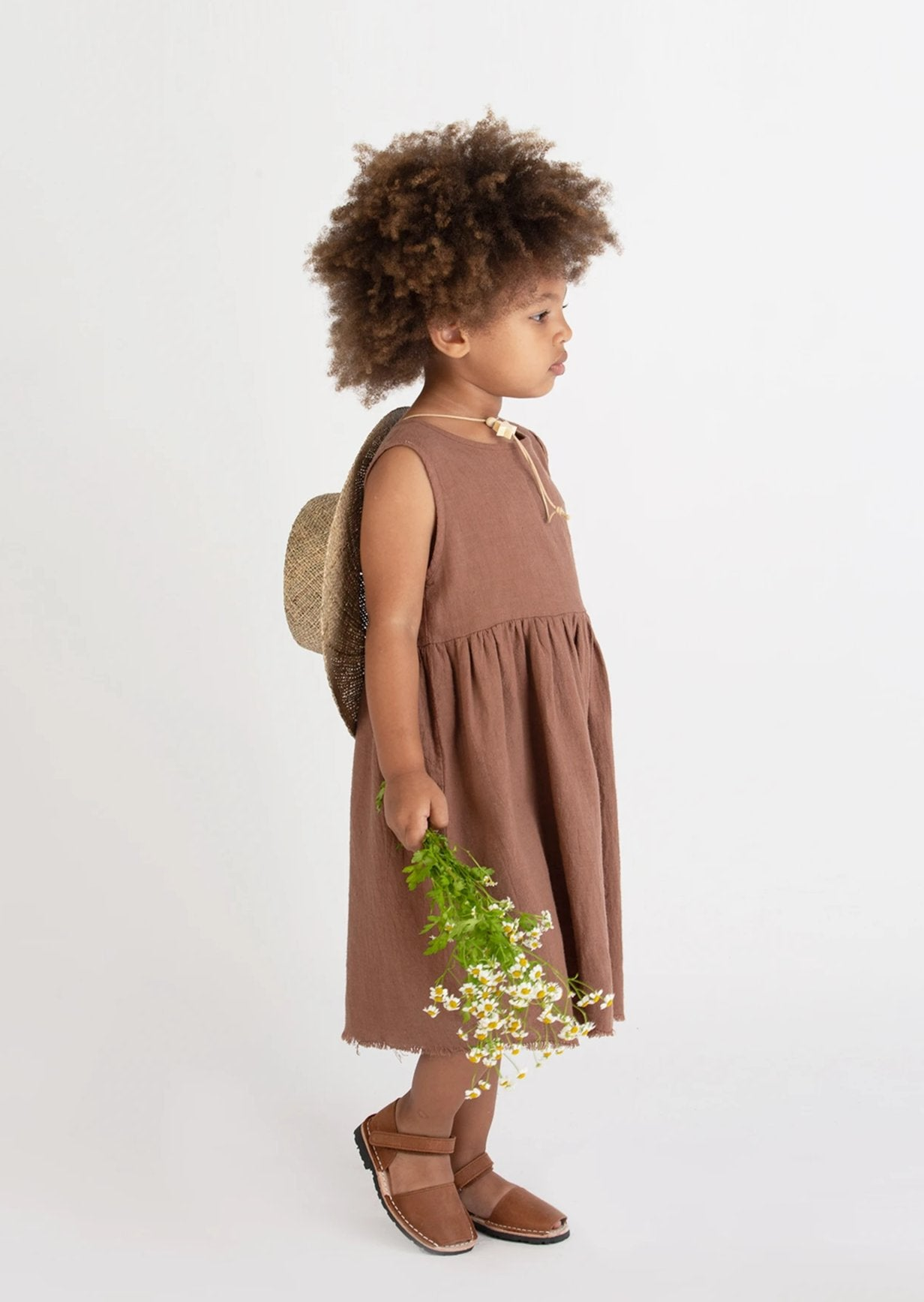 Go Gently Nation Sleeveless Prairie Dress Hazelnut