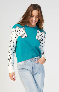 Minkpink Snow Leopard Knit Jumper