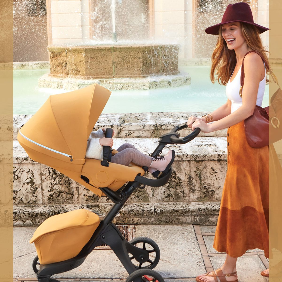 Load image into Gallery viewer, stokke xplory x golden yellow lifestyle