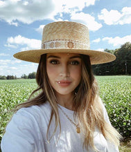 Load image into Gallery viewer, Spencer Boater Special Women's Straw Hat by Lack of Color