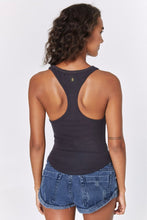 Load image into Gallery viewer, Spiritual Gangster Lena Rib Tank in Vintage Black | Activewear