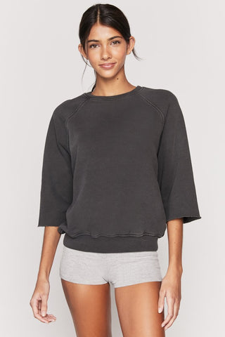 Maya Cut Off Crew Sweatshirt