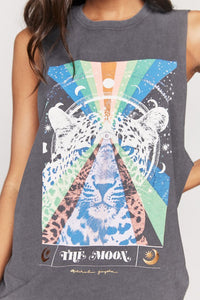 Spiritual Gangster The Moon Cut Off Band Tank
