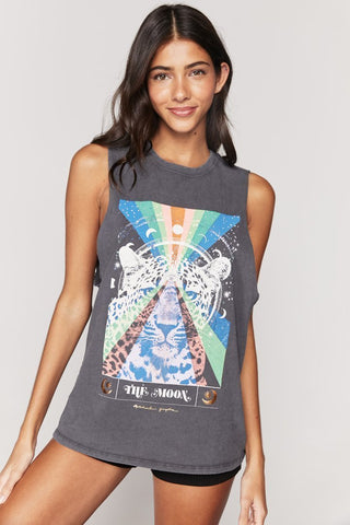 The Moon Cut Off Band Tank