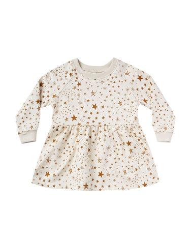 Starburst Raglan Dress - Natural