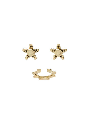 Starlight Studs + Ear Cuff Set - Gold
