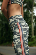Load image into Gallery viewer, Striped Camo High Waist 7/8 Legging by Spiritual Gangster | Activewear