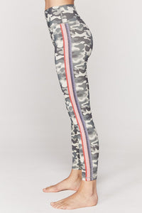 Striped Camo High Waist 7/8 Legging by Spiritual Gangster | Womens