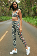 Load image into Gallery viewer, Striped Camo High Waist 7/8 Legging by Spiritual Gangster