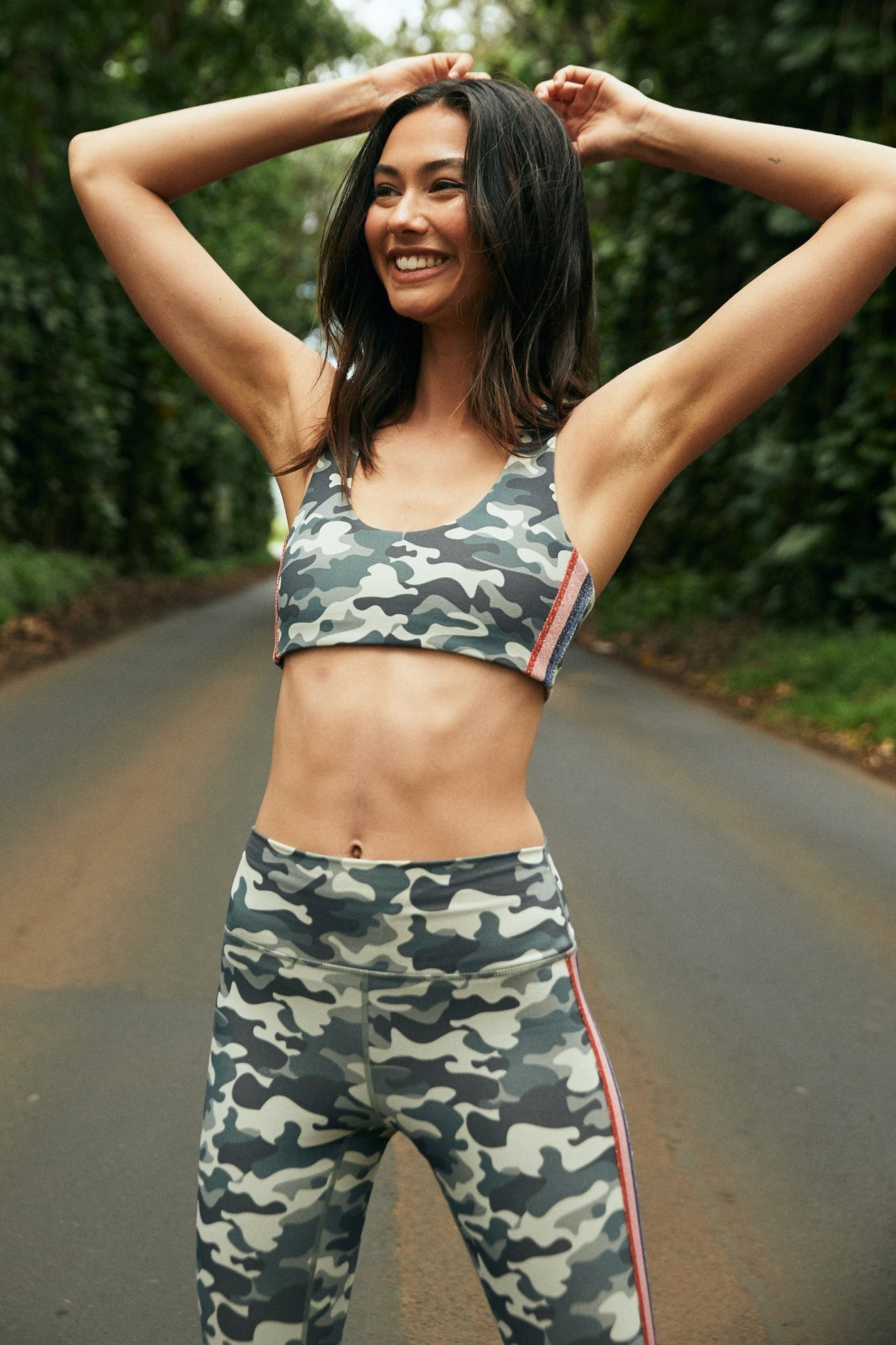 Striped Camo Shakti Bra by Spiritual Gangster | Womens