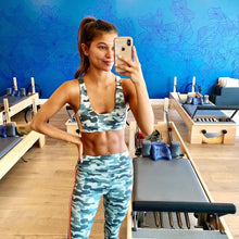 Load image into Gallery viewer, Striped Camo High Waist 7/8 Legging by Spiritual Gangster | Workout Wear
