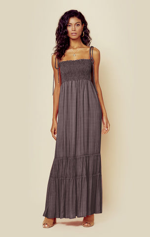 Summer Breeze Maxi - Tick Stripe Black