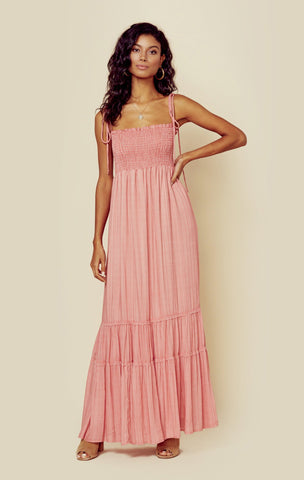 Summer Breeze Maxi - Tick Stripe Pink