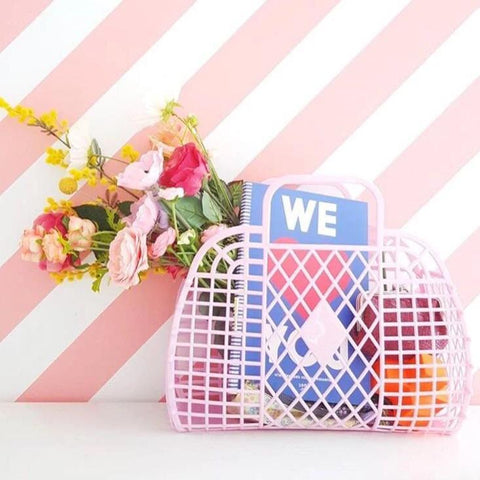 Presale Retro Basket - Large Bubblegum Pink