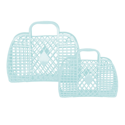 Presale Retro Basket - Small Blue