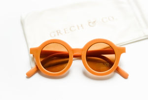 Sustainable Kids Sunglasses - Golden| Grech & Co. - Kids Fashion Accessories