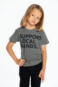 Support Local Bands Triblend Crewneck Tee from Chaser Kids
