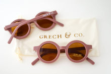 Load image into Gallery viewer, Sustainable Kids Sunglasses - Burlwood | Grech & Co. - Kids Fashion Accessories