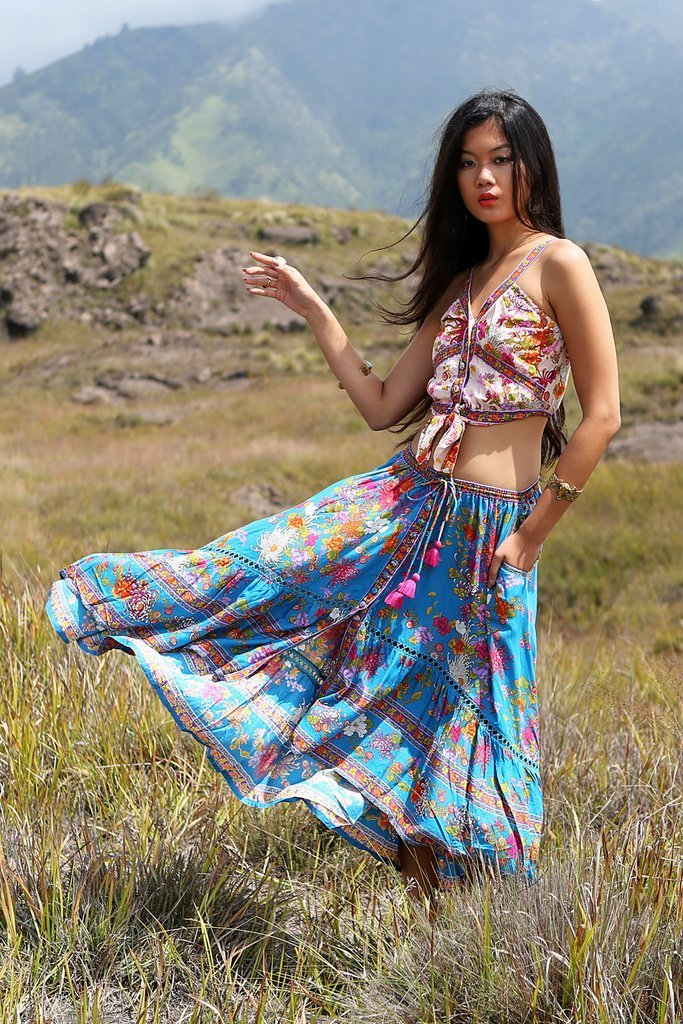 eb76c611f3 ... Load image into Gallery viewer, Delila Maxi Skirt, Tulle & Batiste  - Bohemian ...