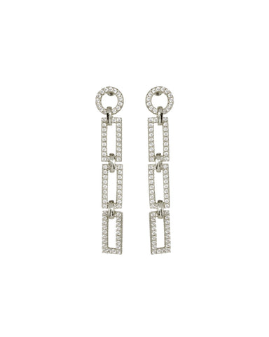 The Mini Chain Link Studs - Silver