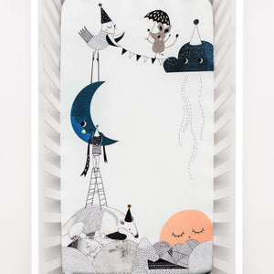 Rookie Humans The Moons Birthday Standard Size Crib Sheet