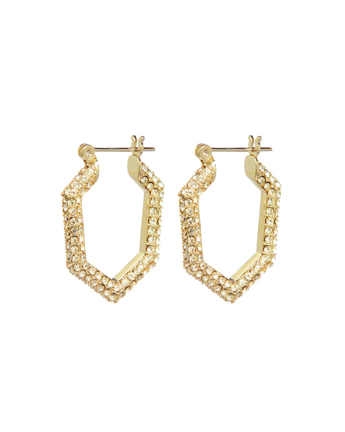 Load image into Gallery viewer, Luv Aj Pave V Hoops in Gold