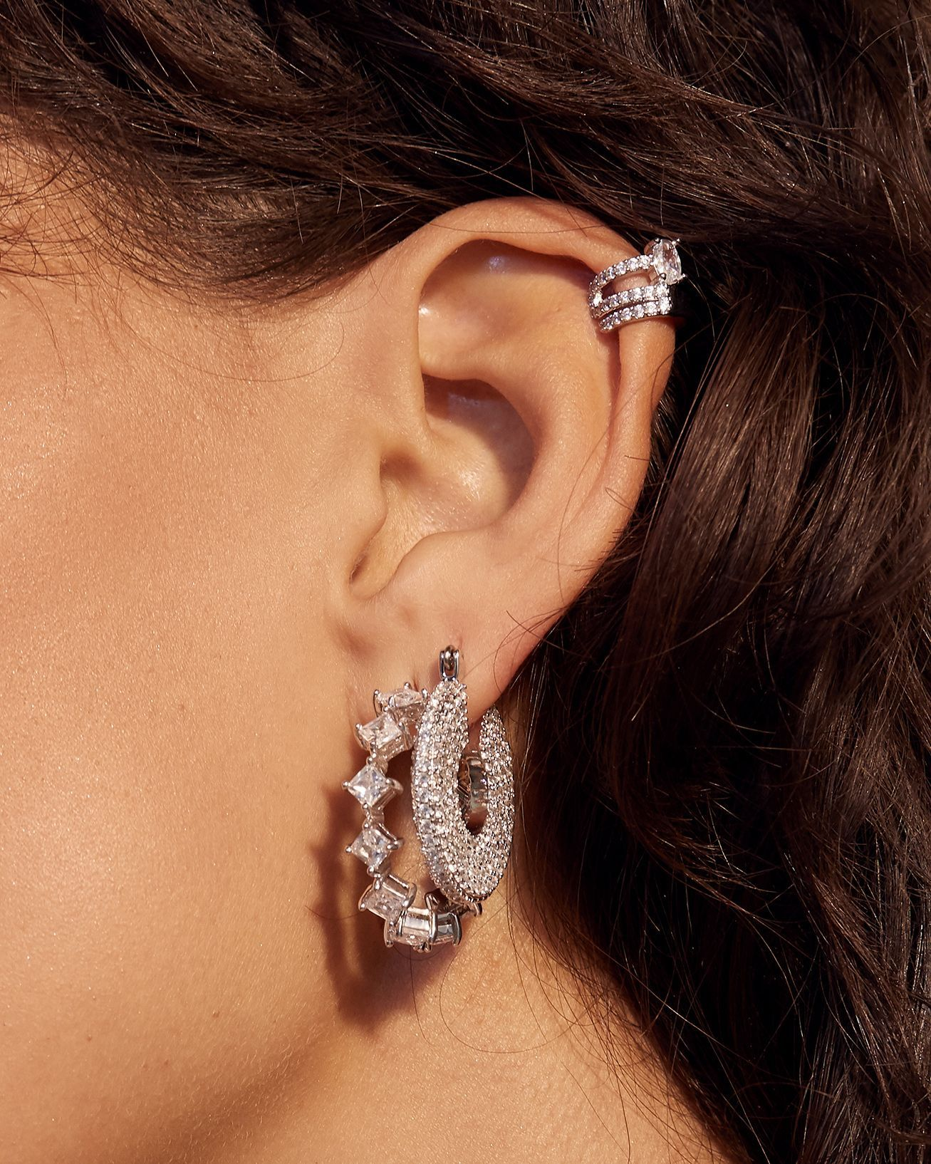 Load image into Gallery viewer, The Ballier Ear Cuff - Silver