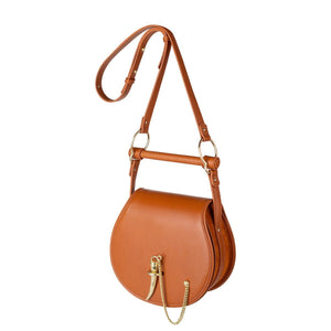 Sancia Babylon Bar Bag in Cognac | Top handle bags
