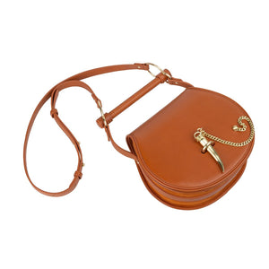 Sancia Babylon Bar Bag in Cognac | Leather Bags