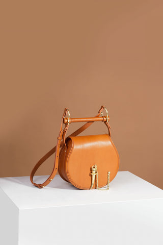Sancia Babylon Bar Bag in Cognac