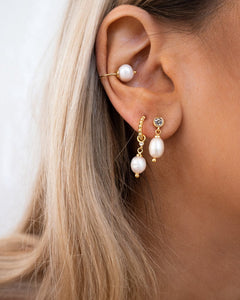The Baroque Pearl Ear Cuff - Gold
