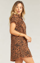 Load image into Gallery viewer, The Cyrus Mini Dress in Bronze Leopard by Show Me Your Mumu | Bohemian mama
