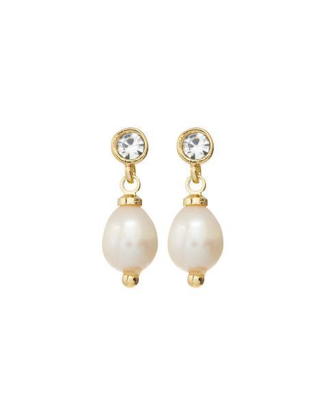 Load image into Gallery viewer, The Diamonte Pearl Studs by Luv Aj