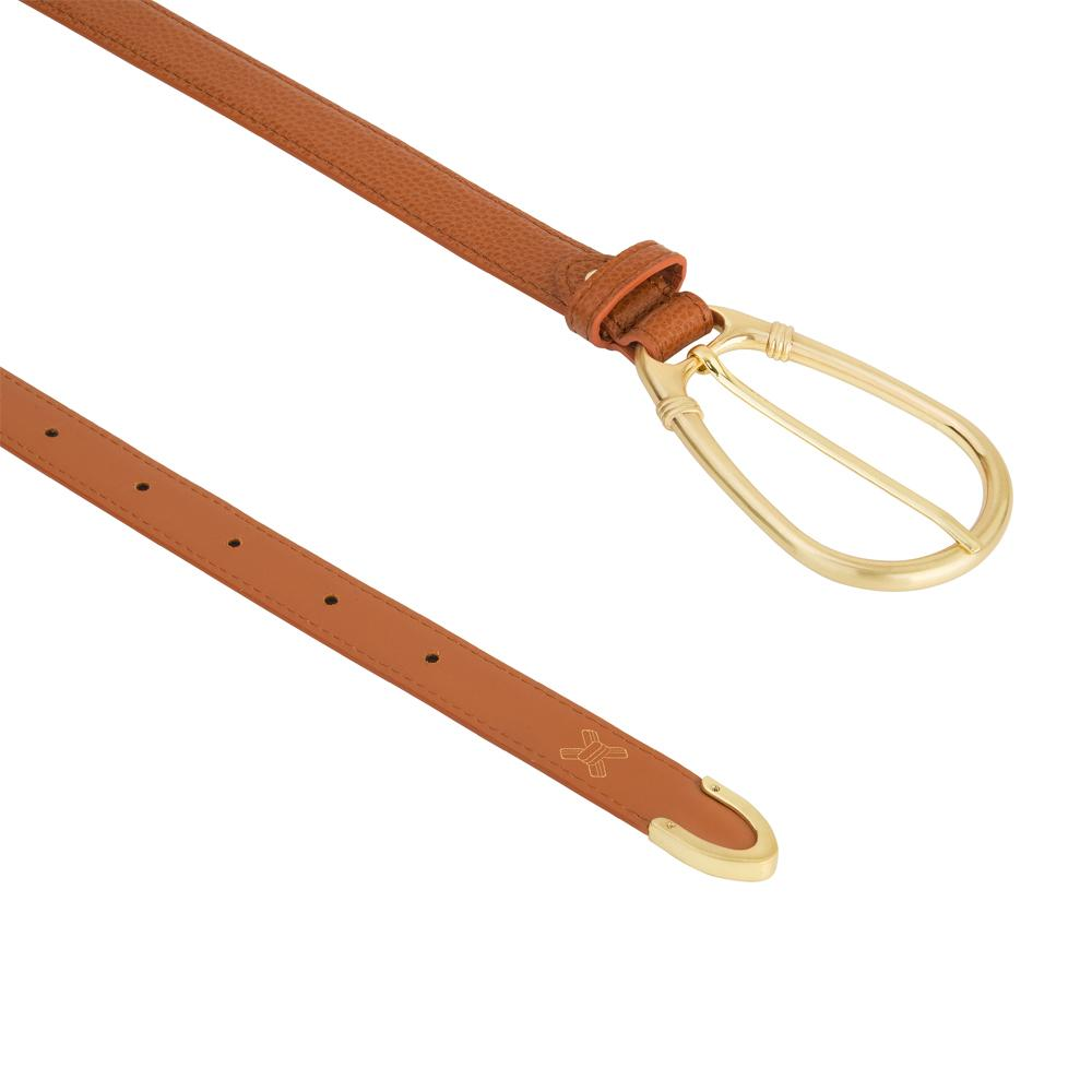Load image into Gallery viewer, The Élysées Belt in Cognac by Sancia | Belts for Women