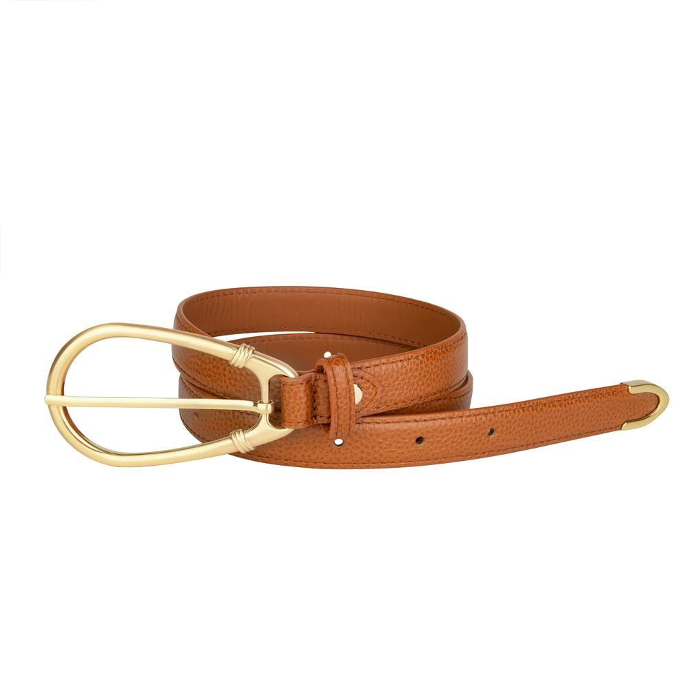 Load image into Gallery viewer, The Élysées Belt in Cognac by Sancia | Womens