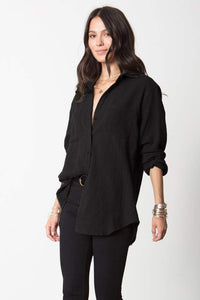 Stillwater The Favorite Shirt Black | Relaxed Women's Button Down Shirt