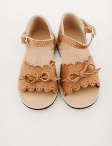 The Humble Soles Amelia Sandals Honey | Little Girl Handmade Sandals