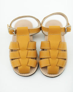 The Humble Soles Otto Sandals Mustard | Kids Handmade Sandals