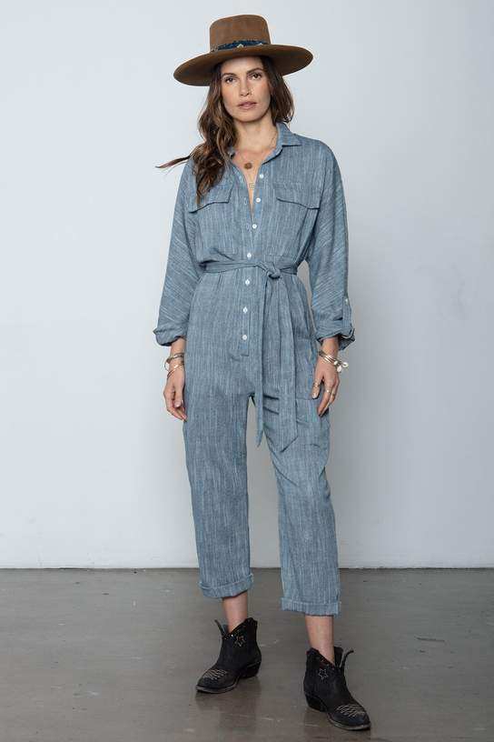 The Luna Jumpsuit - Navy