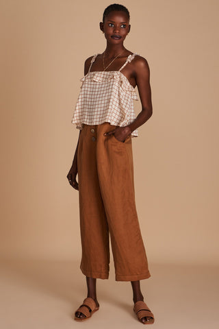 The Marquesa Top Savanne Check | Sancia The Label
