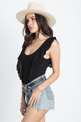 The Ruffle Back Bodysuit