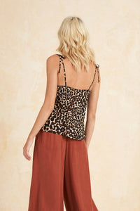 Colca Bias Cami Top in Leopard by Tigerlily | Tops