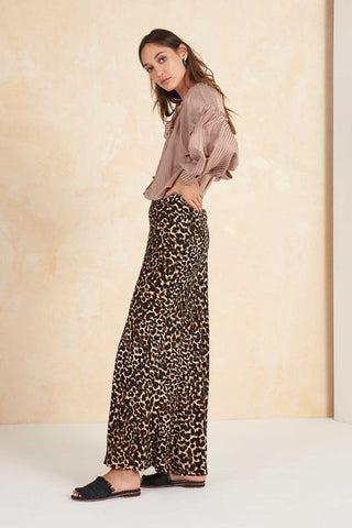 Colca Bias Maxi Skirt in Leopard by Tigerlily